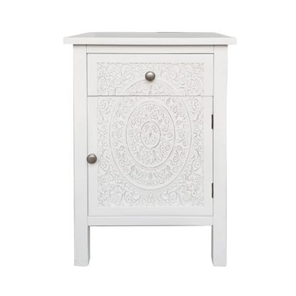 An Image of Samira Small Cabinet White
