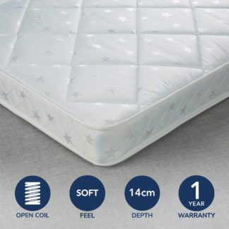 An Image of Fogarty Little Sleepers Soft Medium Water Resistant Open Coil Mattress White