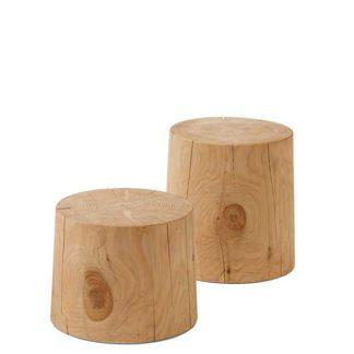An Image of Riva 1920 Legno Vivo Coffee Tables Cedar Wood
