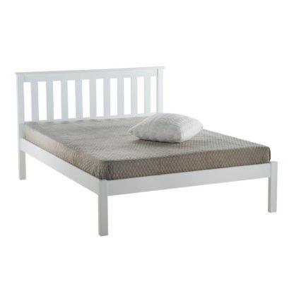 An Image of Denver Low End Bed Frame White