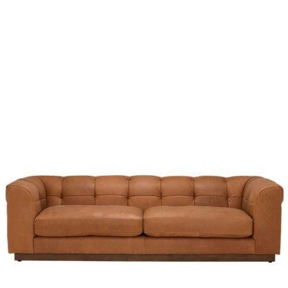 An Image of Whitman Split Frame 4 Seater Leather Sofa Stock