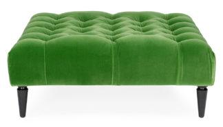 An Image of Balmoral Ottoman Varese Velvet Emerald Natural Feet