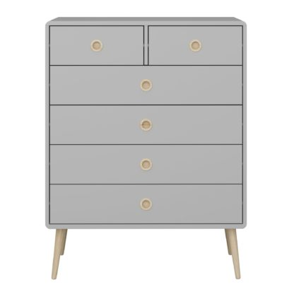 An Image of Softline 6 Drawer Chest Grey