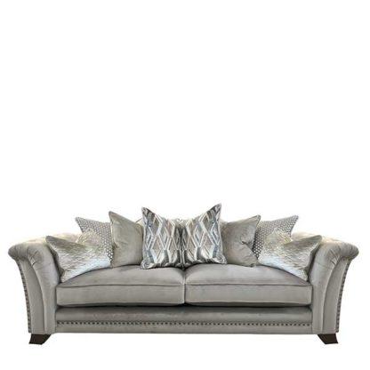 An Image of Dorsey Pillow Back 4 Seater Split Frame Sofa