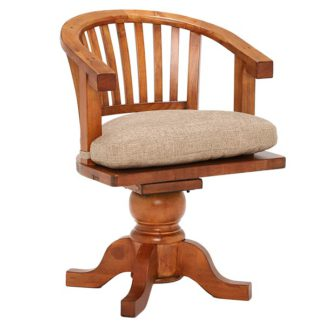 An Image of Villiers Reclaimed Wood LS070 Swivel Chair