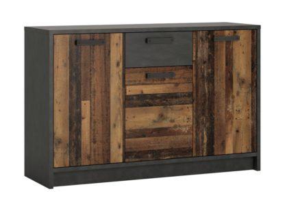 An Image of Nubi 3 Door 1 Drawer Chest - Wood Effect