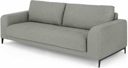 An Image of Luciano 3 Seater Sofa, Mountain Grey