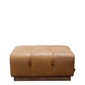 An Image of Whitman Large Leather Footstool Stock