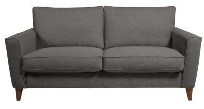An Image of Habitat Aspen 3 Seater Fabric Sofa - Charcoal