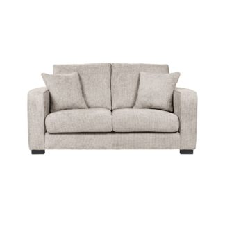 An Image of Carson Chunky Chenille 2 Seater Sofa Pebble