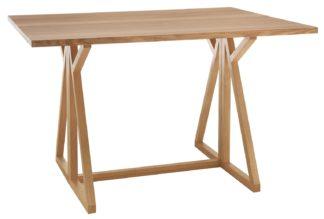 An Image of Habitat Heath Folding 2-4 Seater Dining Table - Oak