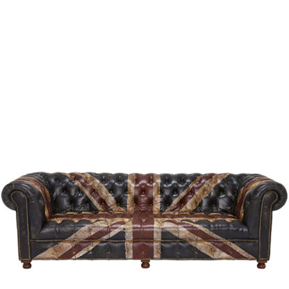 An Image of Timothy Oulton Westminster Button 3 Seater Chesterfield Sofa Jack dn