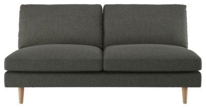 An Image of Habitat Teo 2 Seater Fabric Sofa - Charcoal