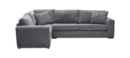 An Image of Habitat Eton Left Corner Fabric Sofa - Charcoal