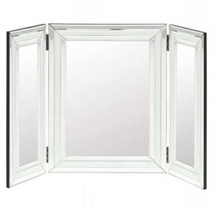 An Image of Krystal Vanity Mirror White Glass and Mirror