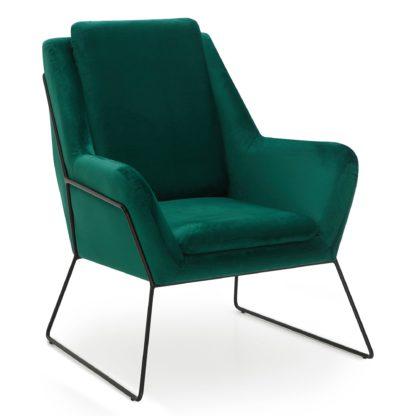An Image of Ferne Metal Framed Chair - Emerald Emerald (Green)