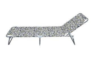 An Image of Argos Home Metal Foldable Sun Lounger - Leopard Print
