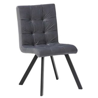 An Image of Arlo Buttoned Velvet Dining Chair