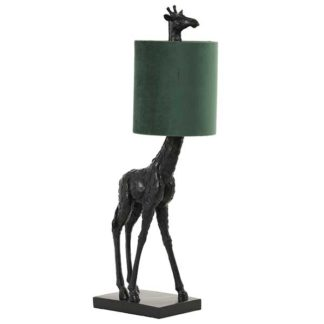 An Image of Giraffe Table Lamp Black and Green