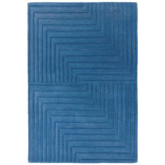 An Image of Form Rug Blue