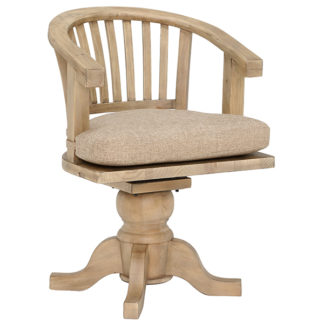 An Image of Verberie Reclaimed Wood Rotating Office Chair