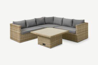 An Image of Garden Corner Dining & Lounge Set, Natural