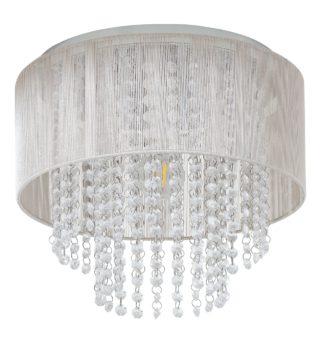 An Image of Argos Home Siena Flush to Ceiling Light - Chrome