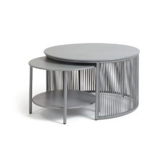 An Image of Habitat Ipanema 2 Coffee Tables - Grey