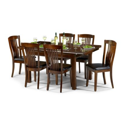 An Image of Canterbury 6 Seater Dining Set Mahogany (Brown)