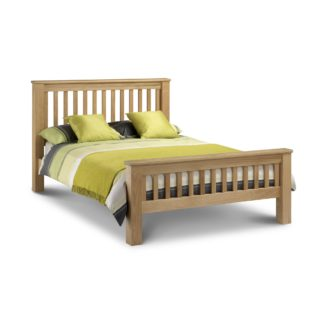 An Image of Amsterdam Oak Bed Frame Brown