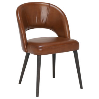An Image of Beck Leather Dining Chair