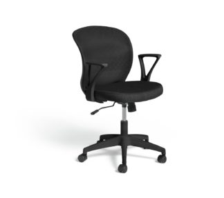 An Image of Habitat Beck Mesh Office Chair - Black