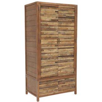 An Image of Charlie Reclaimed Wood 2 Door Wardrobe