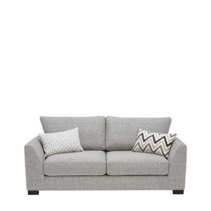 An Image of Milford 3 Seater Fabric Sofa Vegas Zinc