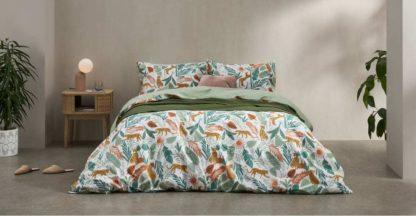 An Image of Akey Cotton Duvet Cover + 1 Pillowcases, Single, Multi
