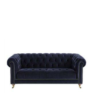 An Image of Ullswater Velvet 3 Seater Chesterfield Sofa