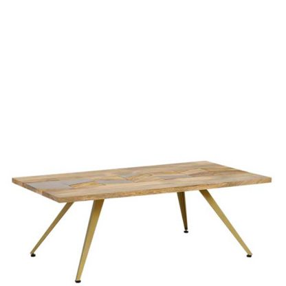 An Image of Leif Coffee Table Natural Mango Wood