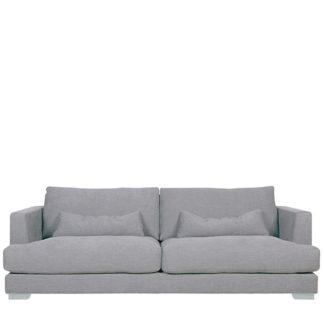 An Image of Flavin 3 Seater Sofa Light Grey