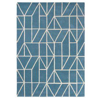 An Image of Viso Wool Rug Denim