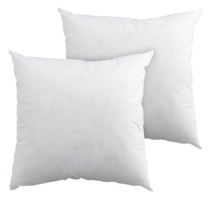 An Image of Argos Home 43x43cm Cushion Pads - 2 Pack