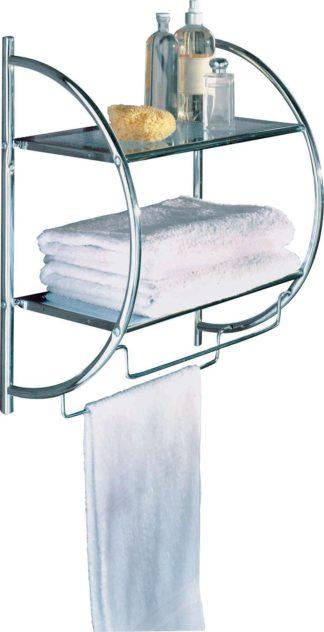 An Image of Argos Home Shelf and Towel Rail - Chrome