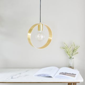 An Image of Circ Pendant Fitting Brass