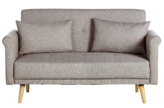 An Image of Habitat Evie 2 Seater Fabric Sofa in a Box - Natural