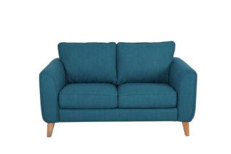 An Image of Habitat Cooper 2 Seater Fabric Sofa - Teal
