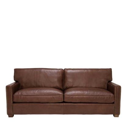 An Image of Timothy Oulton Viscount William 3 Seater Leather Sofa Savage