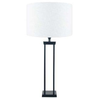 An Image of Four Post Table Lamp Matt Black