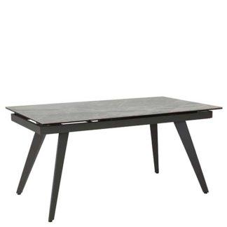 An Image of Venezia Extending Dining Table Italian Dark Grey and Grey