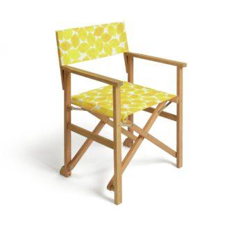 An Image of Habitat Wooden Director Chair - Lemons