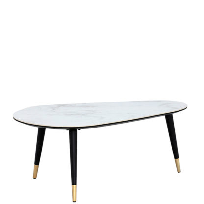 An Image of Parian Coffee Table Matt Black and White Ceramic