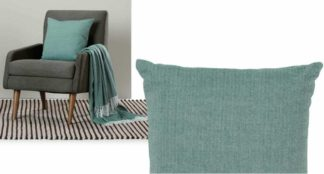 An Image of Porter Cushion, 45 x 45cm, Teal